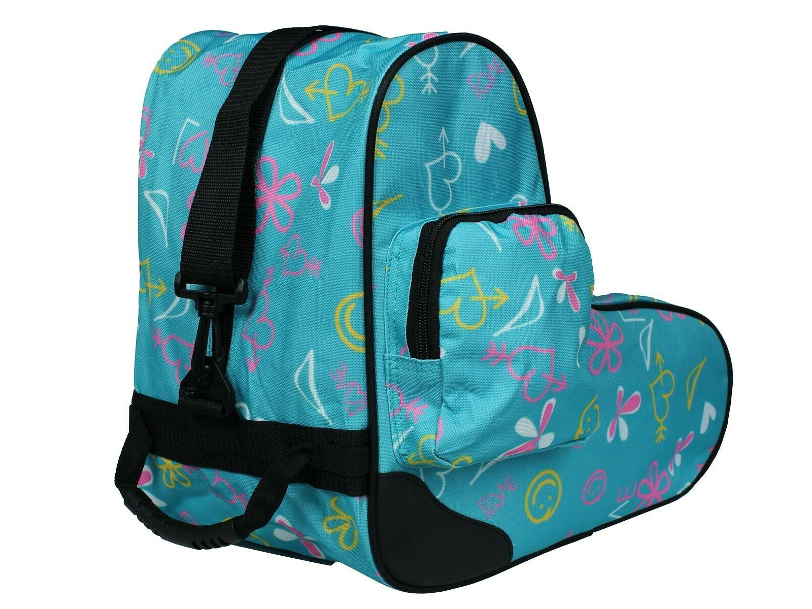 EPIC Limited Edition Blue Graffiti Love Quad Speed Roller Skate Bag