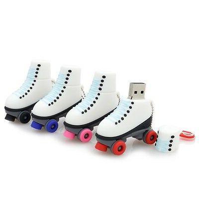 fashion roller skates cartoon usb 2 0