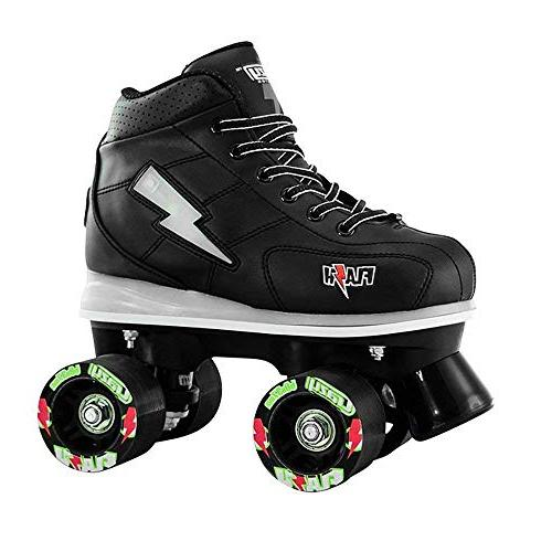 Crazy Skates Flash Skates for Boys Light Skates with Ultra Bright Flashing Lightning Black Patines