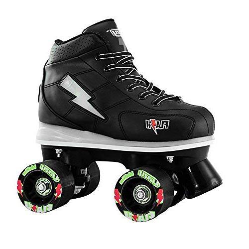 Crazy Skates Flash Skates for Boys Light Skates with Ultra Bright Flashing Lightning Black Patines