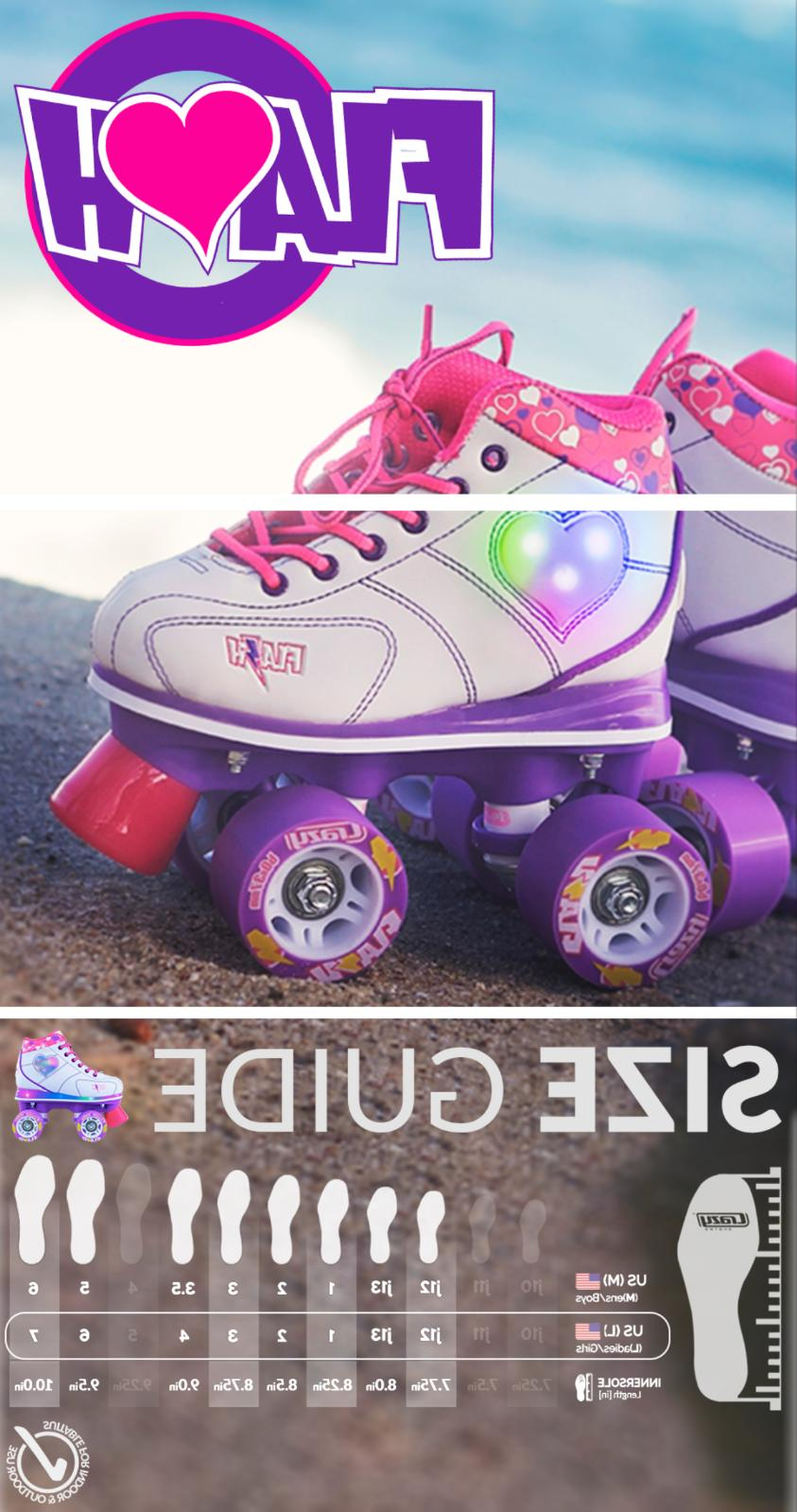 Flash Skates LED Hearts and Boots by Skates Quad
