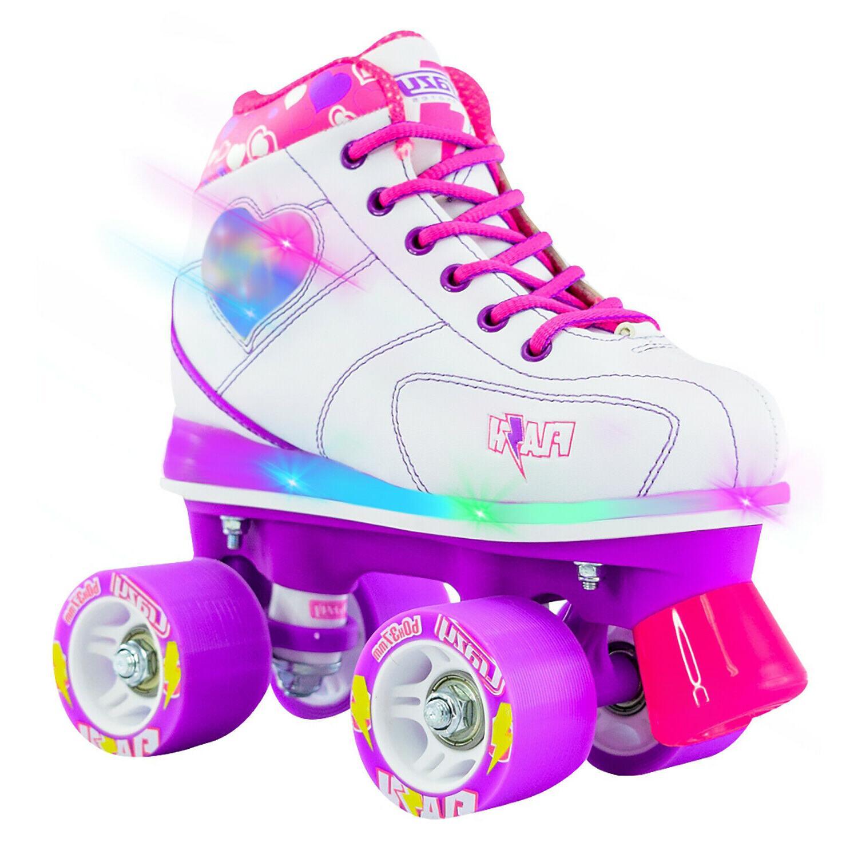 flash roller skates w led hearts