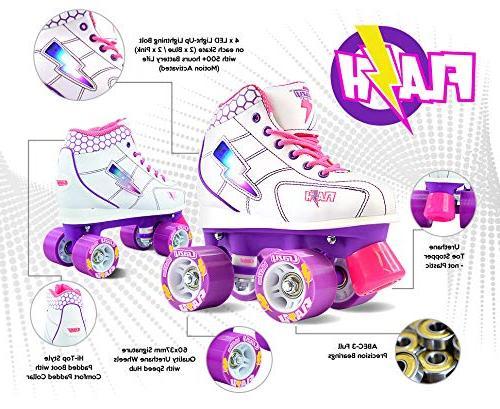 Crazy Skates for Light Up Skates with Ultra Bright and Lightning | White