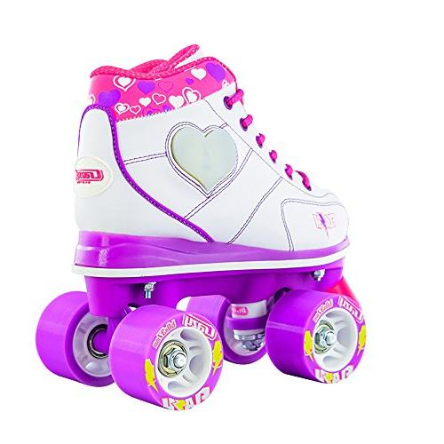 Crazy Skates Flash Roller Skates Light Up Skates with Ultra Bright and Flashing | White