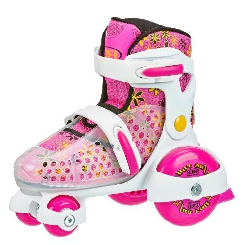 fun roll adjustable skate white