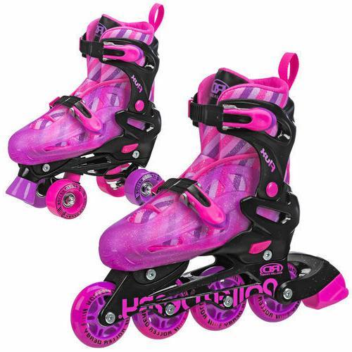 girls flux inline quad interchangeable skate