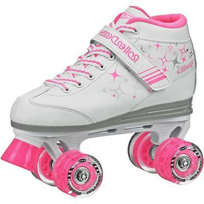 girls sparkle quad light up wheel roller