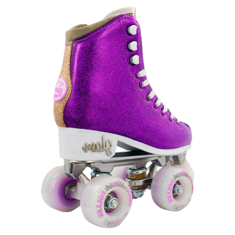 Glam Skates Crazy Glitter Rollerskates Purple