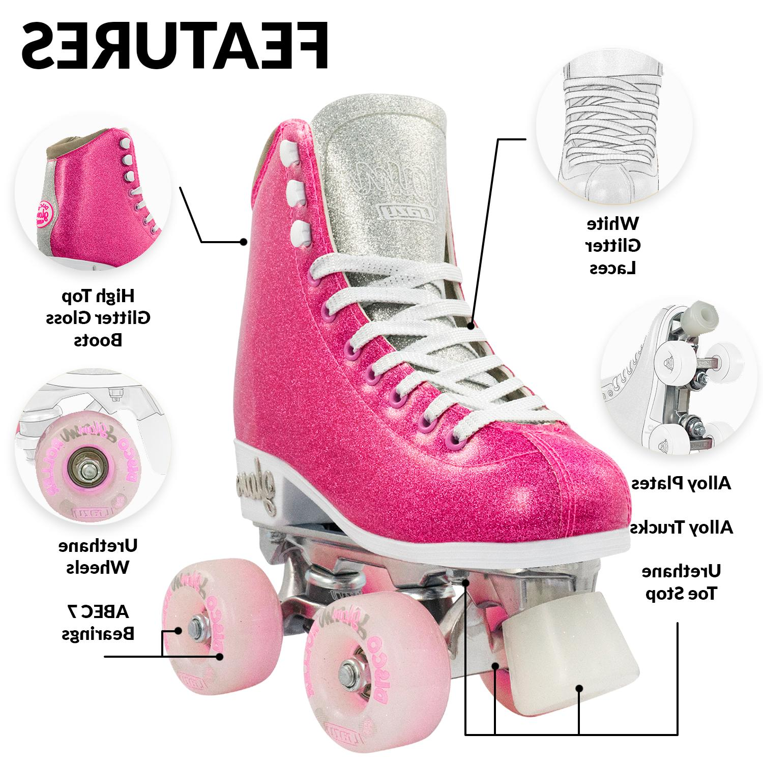 Crazy | Glitter Quad Rollerskates for |