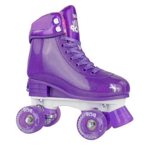 glitter pop adjustable roller skates for girls