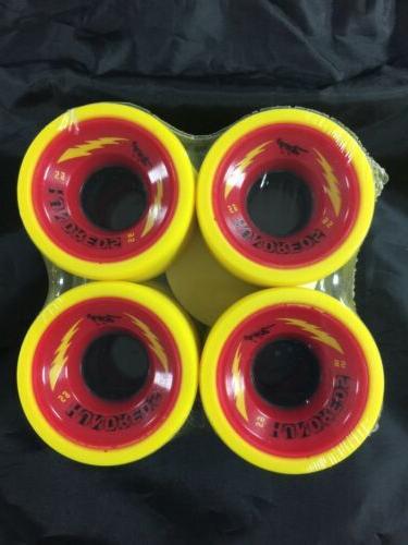 JUICE SKATE WHEELS IN PACKAGE RED/YELLOW OF