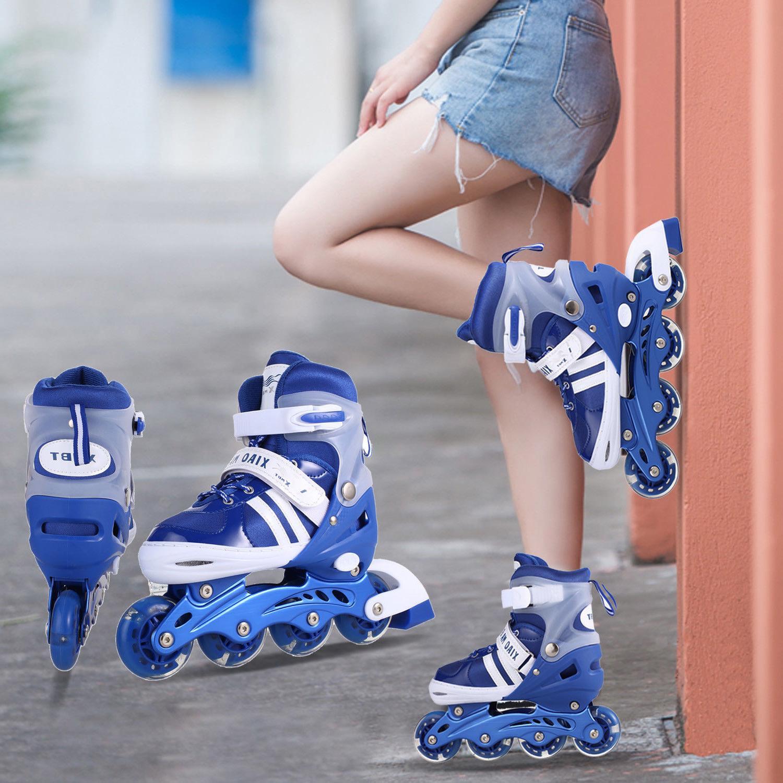 Kids Boy Girl Inline Roller Skates Children Adjustable Rolle