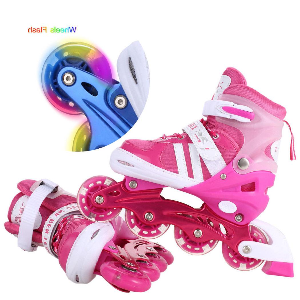 Inline Skates Girls Boys Roller Blades For Kids Roller Adjustable Gift