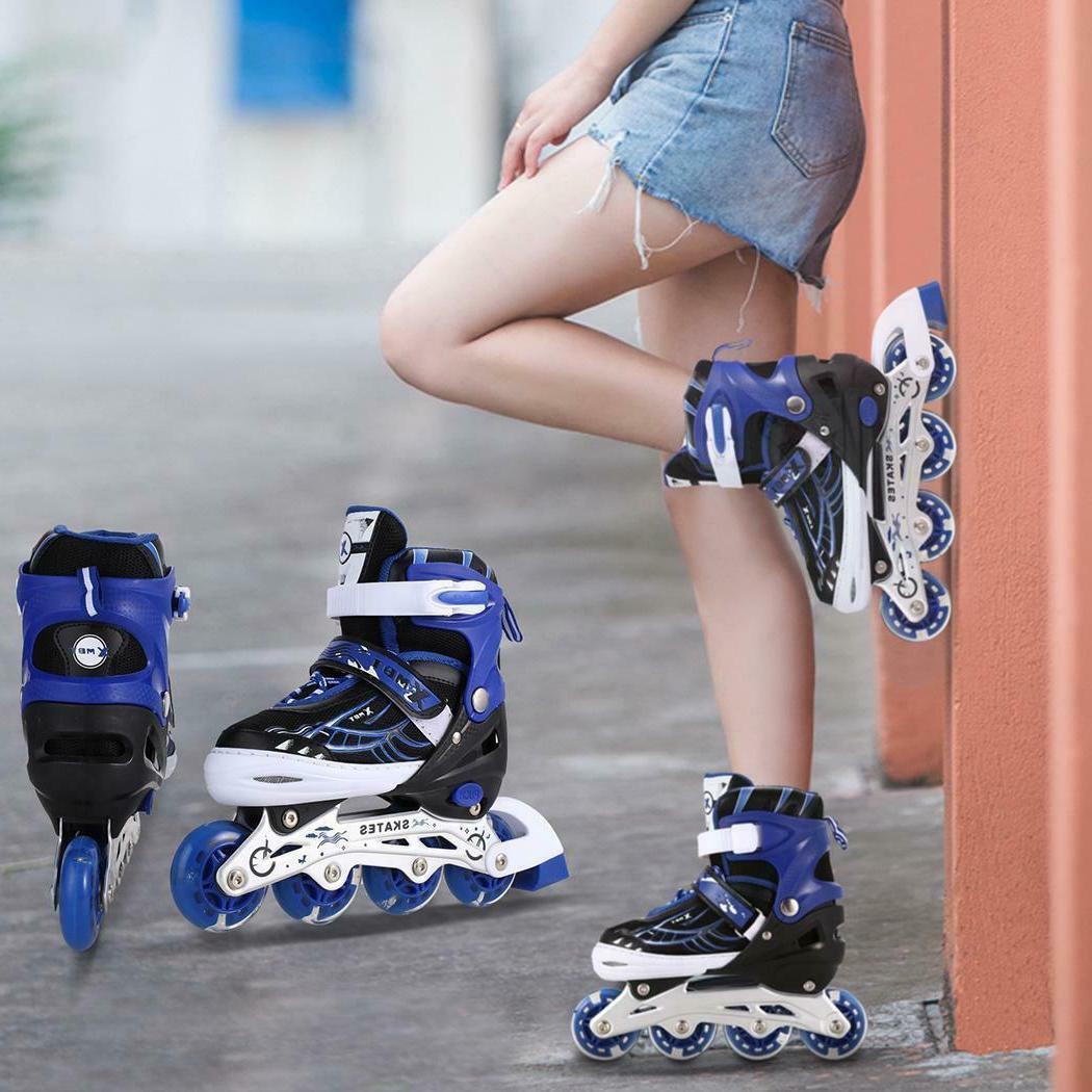 Inline Skates with Up Wheels Adjustable Roller Skates