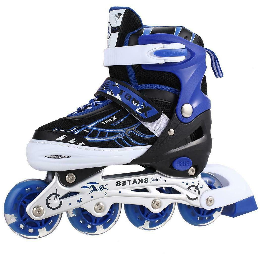 Boys/ Inline/ Double Roller Skates PU