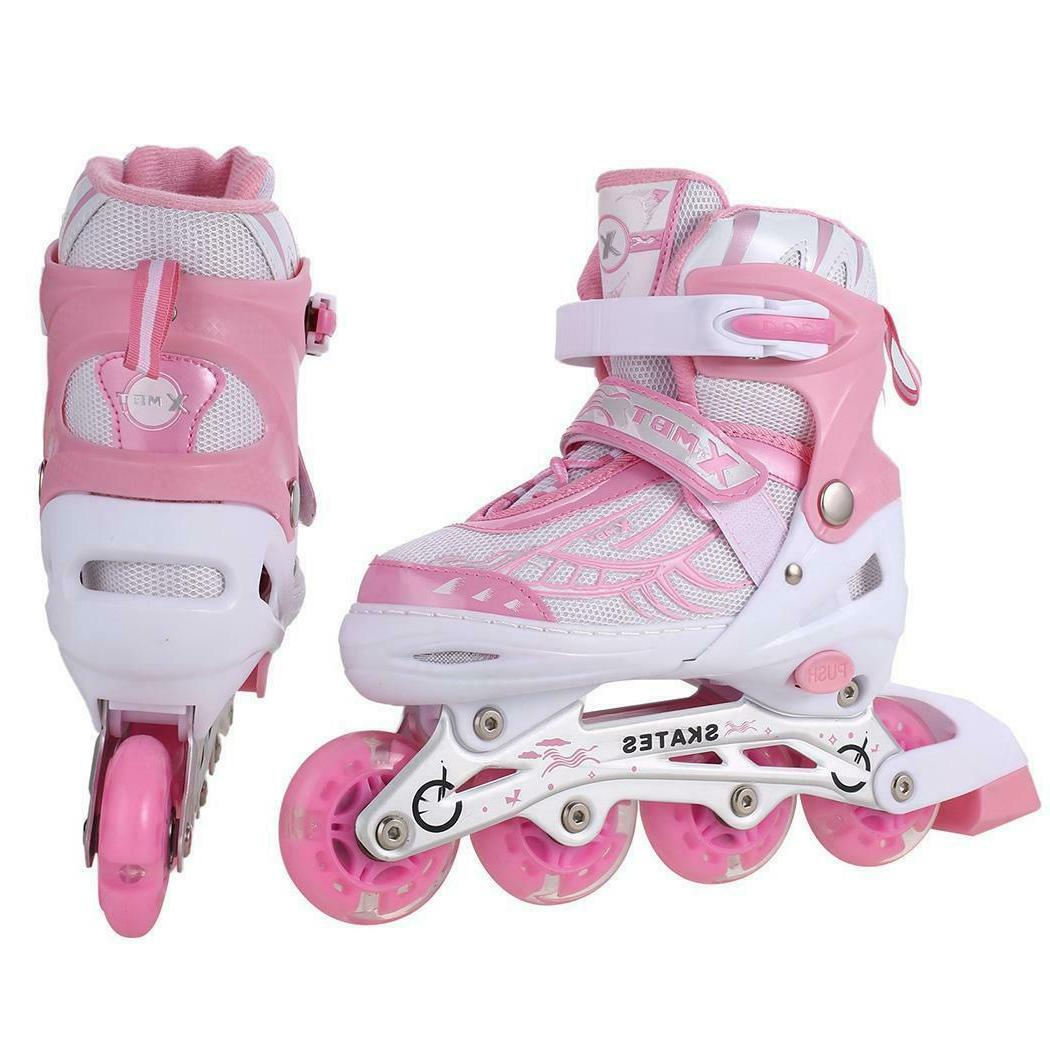 Inline Skates Adjustable Rollerblades for Youth Outdoor Roll