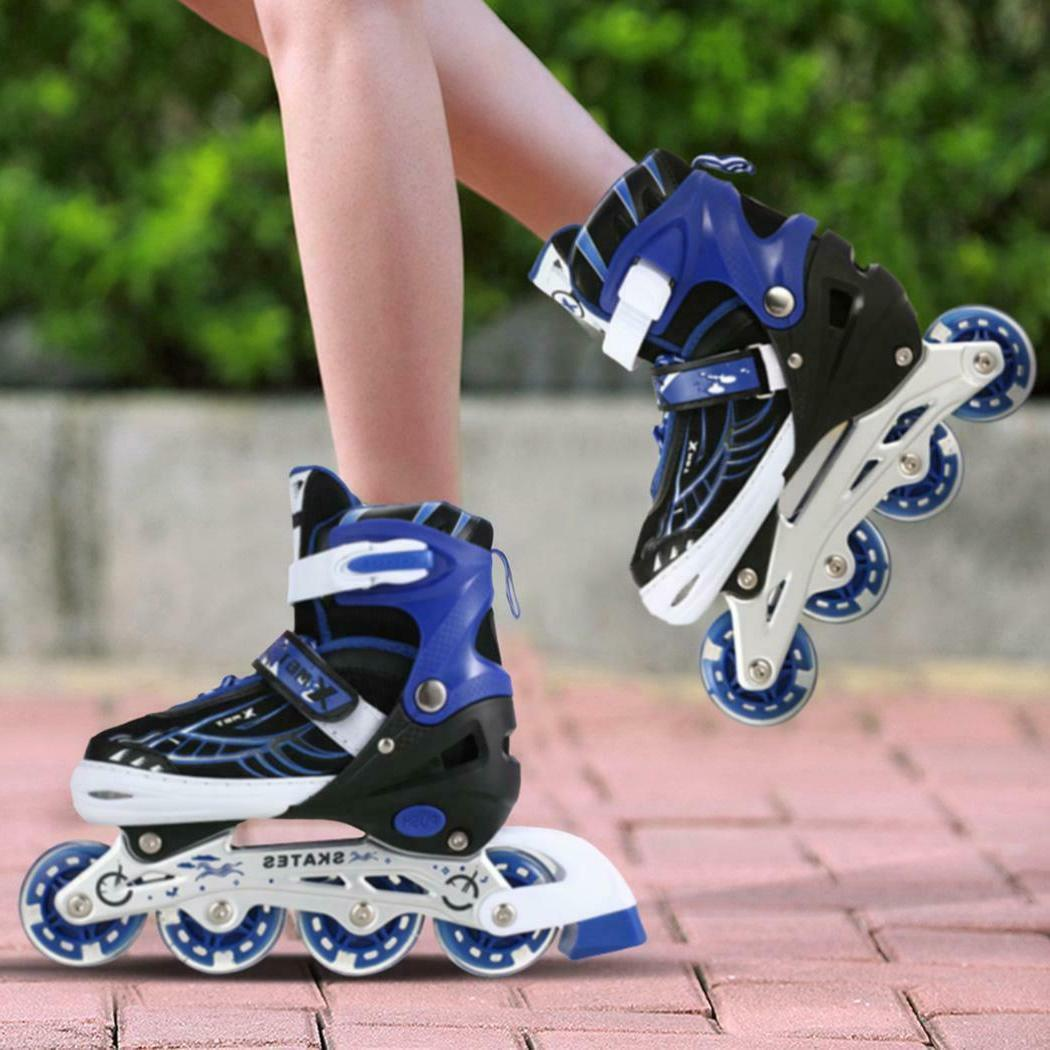 Boys/ Girls Skates Adjustable Inline/ Double Roller Skates P