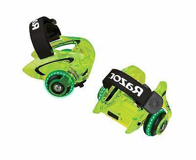 jetts dlx heel wheels neon