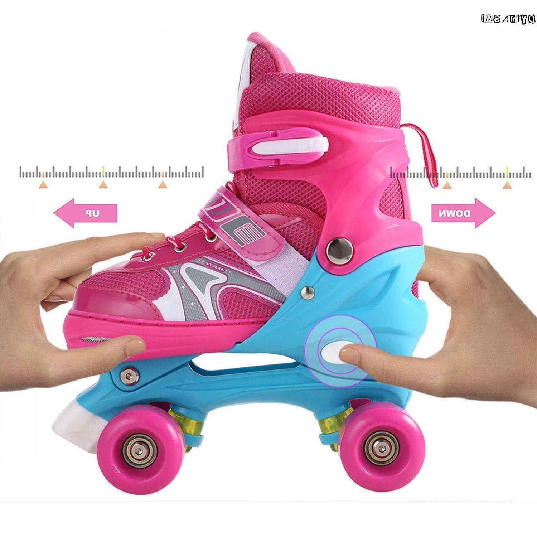 Kids Quad Roller Skates Boys 2 Skating Shoes