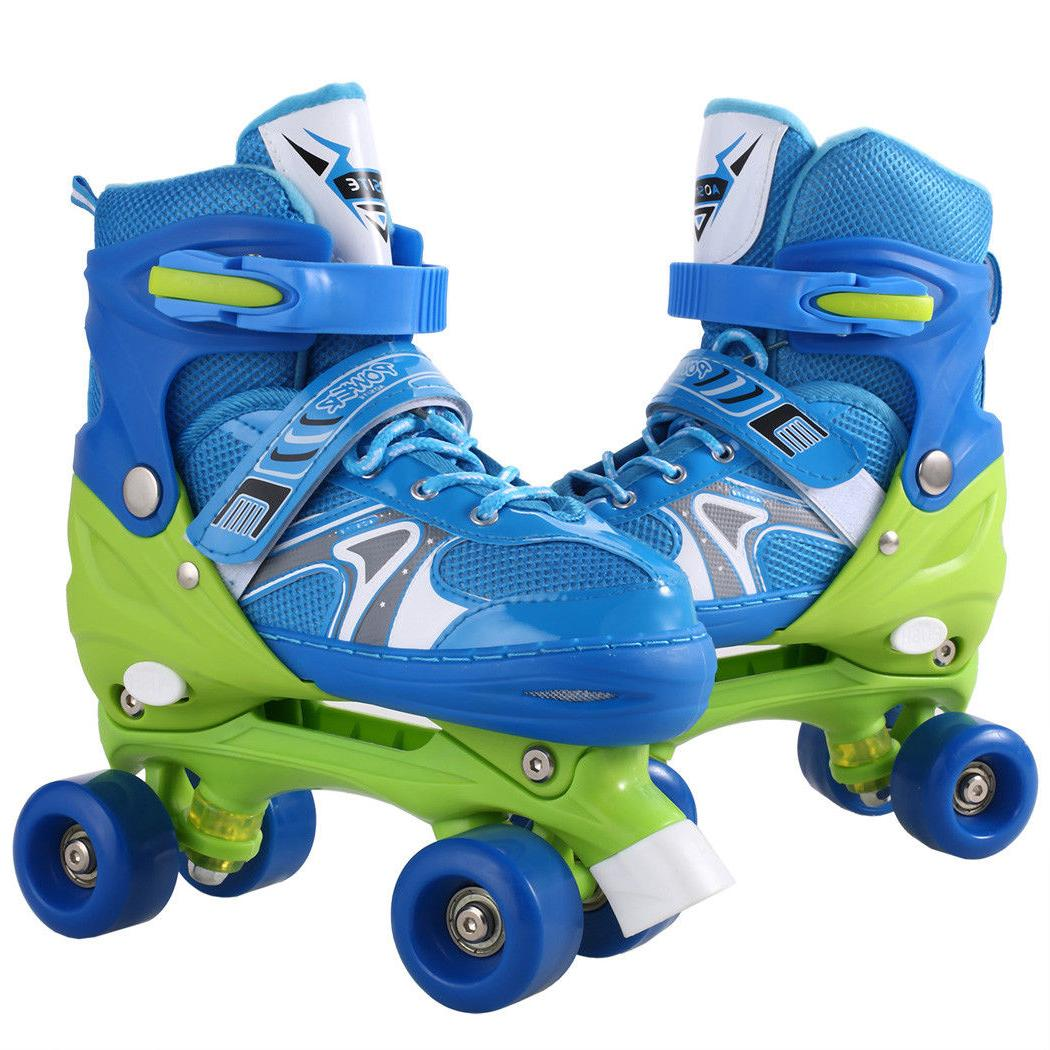 Kids Inline Skates Adjustable Roller Blades Skate for Girl S/M/L