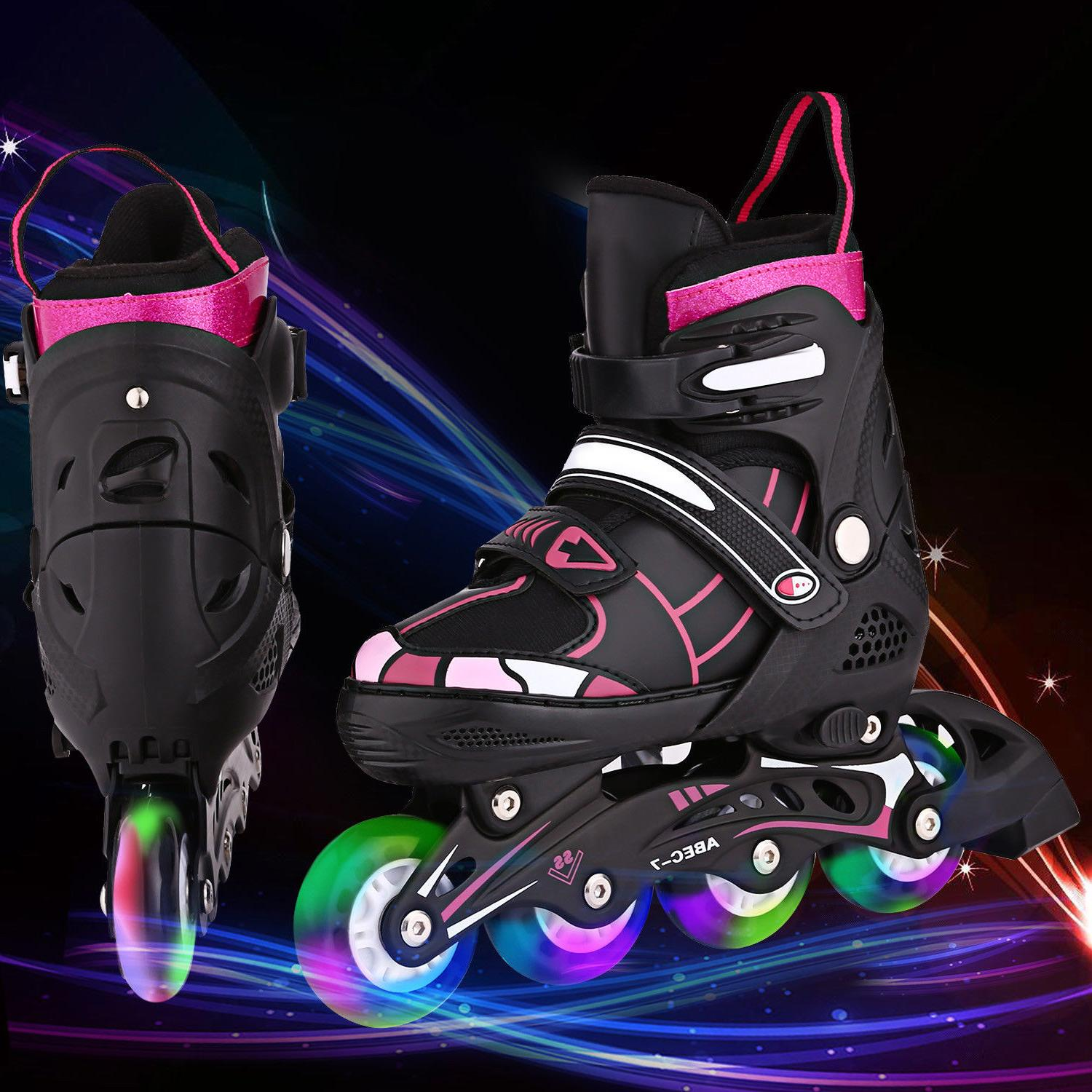 kids inline skates adjustable roller blades shoes