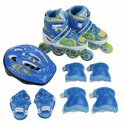 Kids Inline Roller Shoes with Adjustable Light up Wheel &Girl