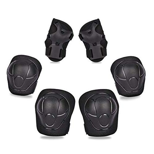 eNilecor Elbow Pads Wrist Guards for & Skating Skateboarding Blading Protective Gear