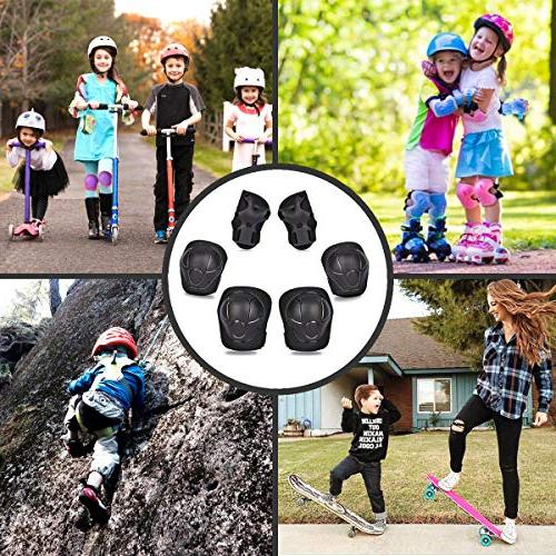 eNilecor Kid's Elbow Pads Wrist for Skating Skateboarding Protective Pack
