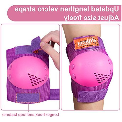 eNilecor Rollerblade Skates Knee Elbow Protective for BMX Skateboard Inline Skatings Scooter