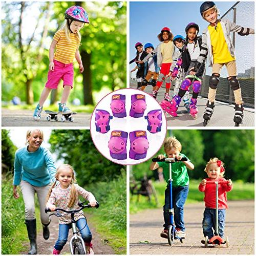 eNilecor Kids/Youth Rollerblade Skates Knee Pads Elbow Pads Protective for BMX Bike Skateboard Skatings Scooter