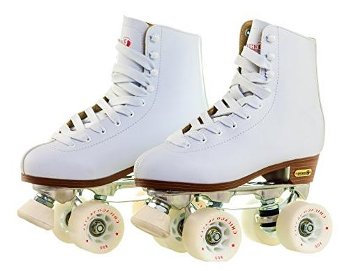 Chicago Women's Leather Rink Roller White