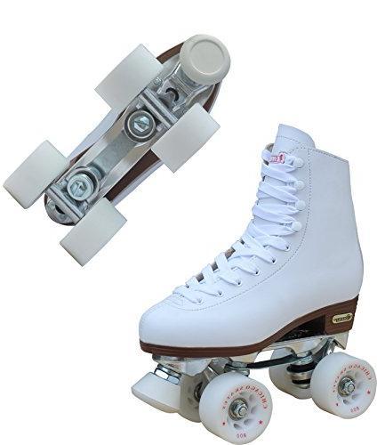 Chicago Leather Rink Skate White