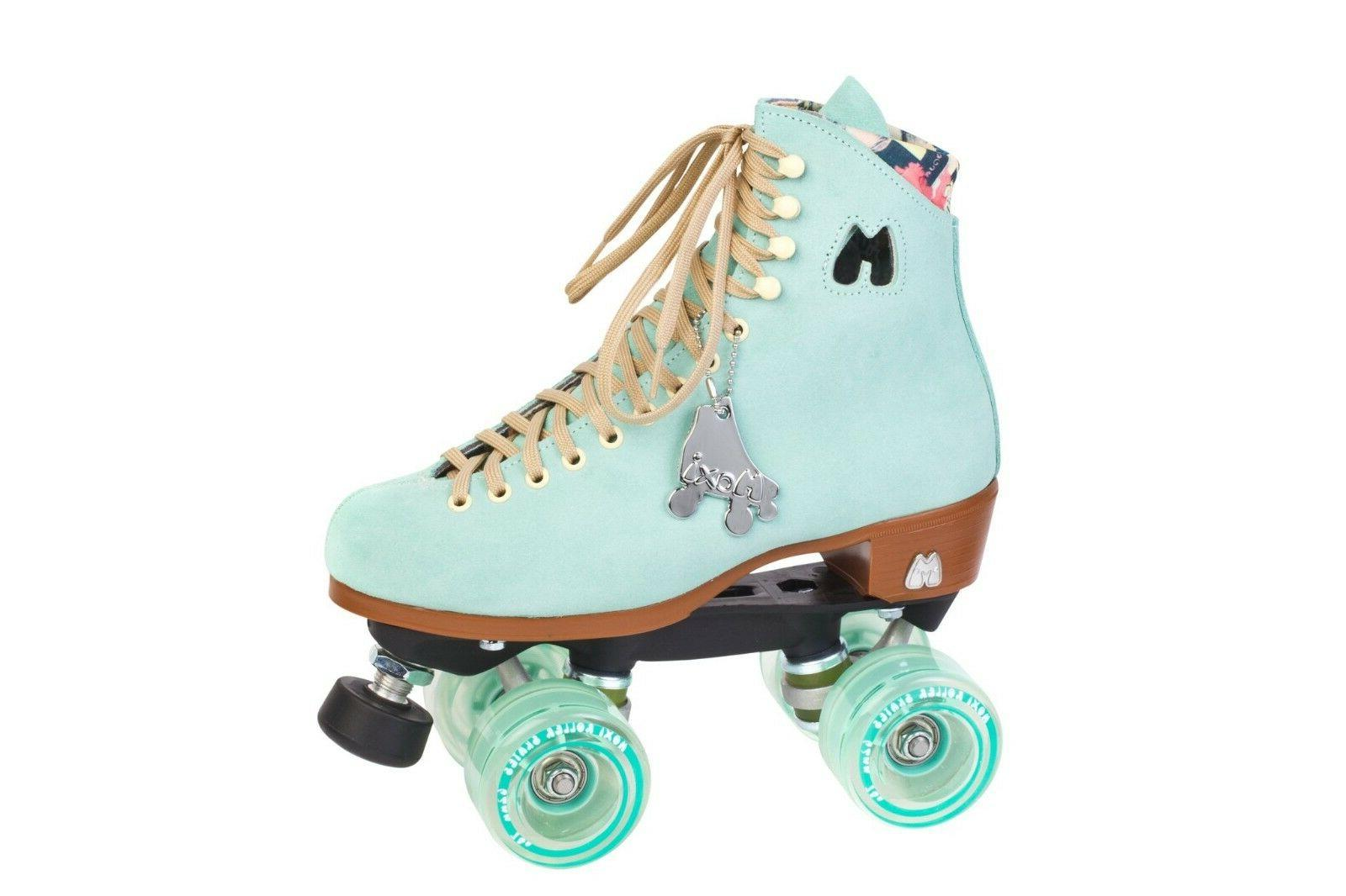 lolly roller skates floss teal suede