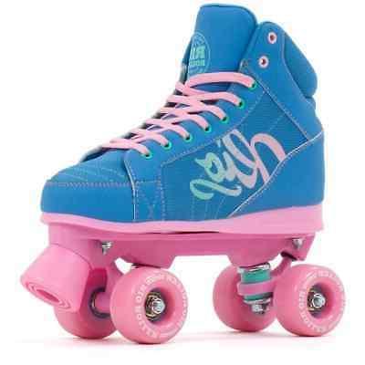 lumina quad roller skates blue pink
