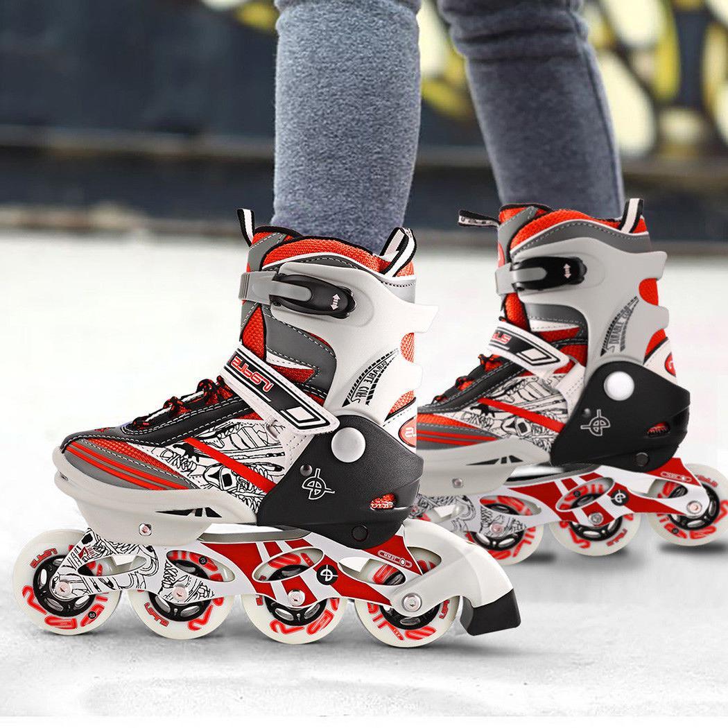 Inline Skates Rollerblade Children Teens Fitness Skate + Int