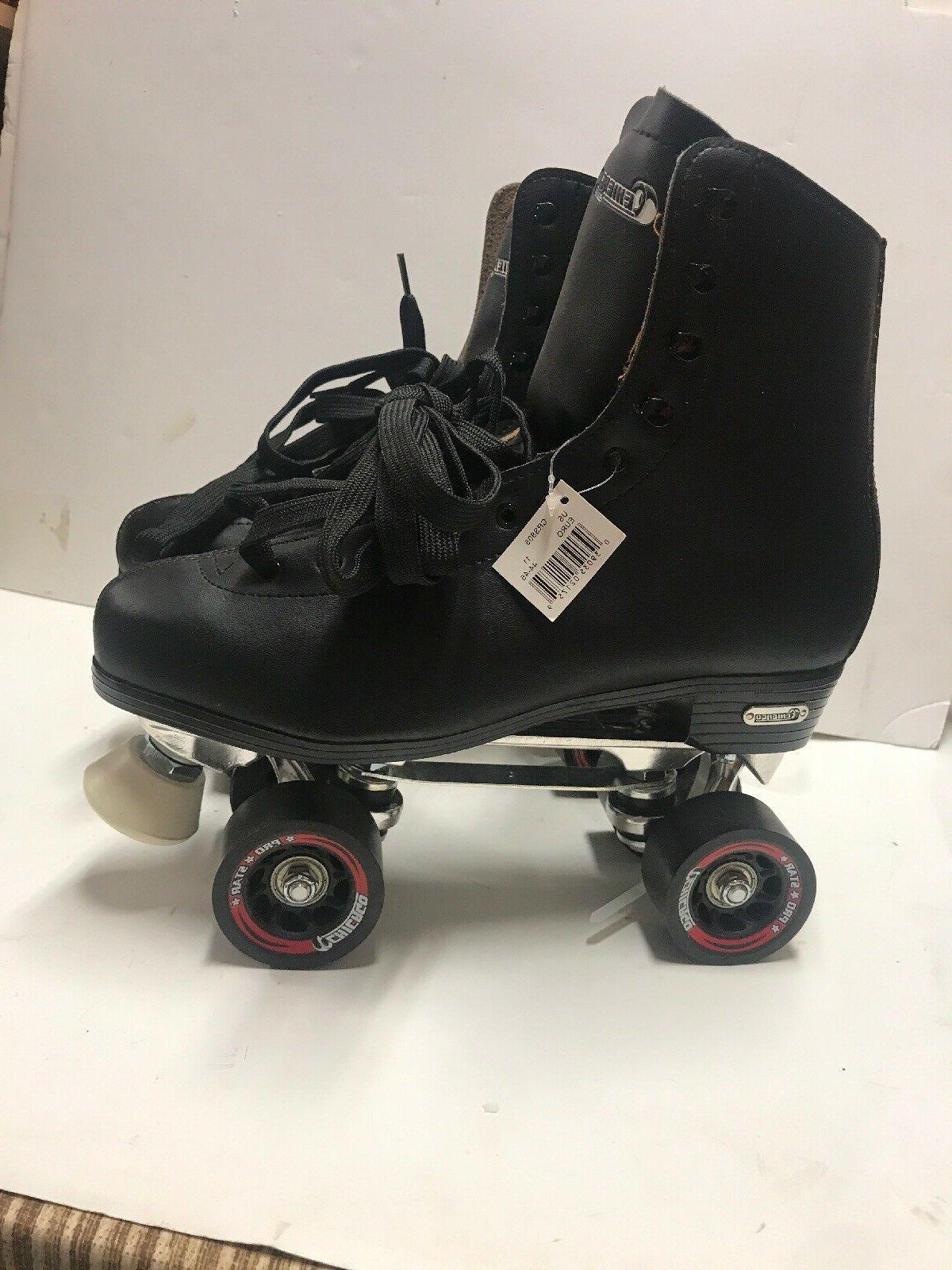 CHICAGO DELUXE ROLLER SKATES Mans 11 Solid BLACK