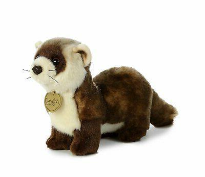 "Miyoni Black Footed FERRET 10.5"" Plush Stuffed Animal Toy Au"