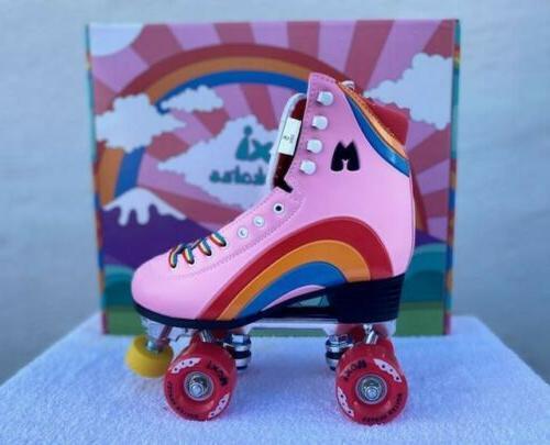 moxi rainbow rider pink roller skates size