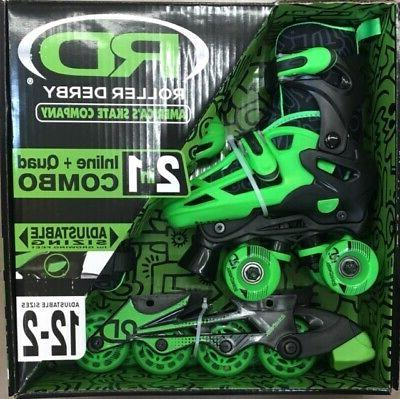 new 2n1 inline roller combo skates boy
