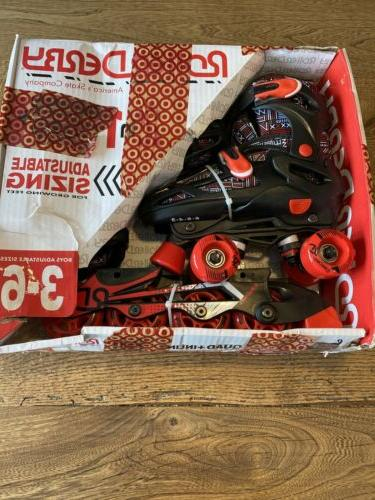 new adjustable inline skates boys size 3