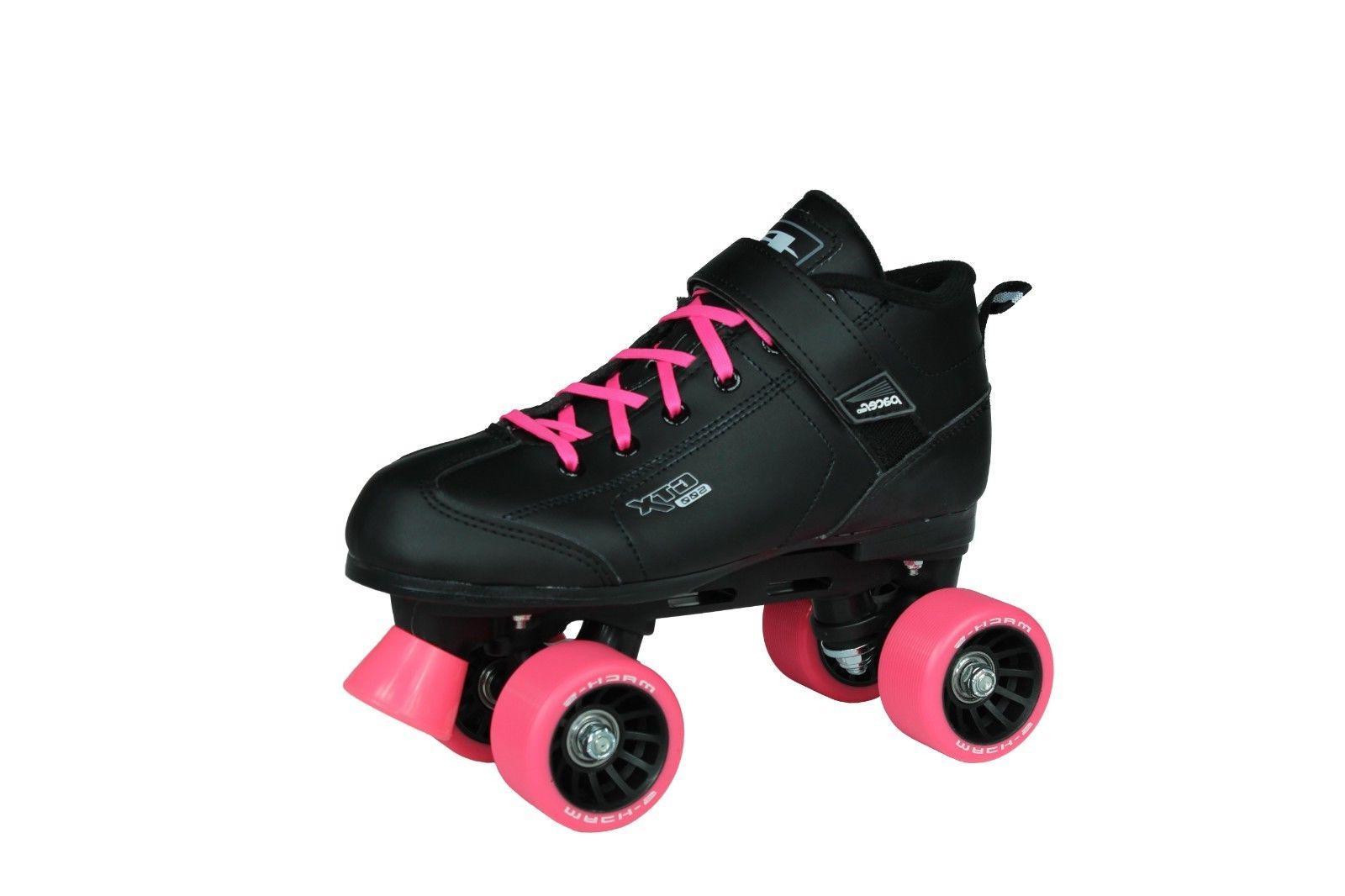 NEW! Pacer Mach-5 Black & Pink Quad Roller Speed Bundle