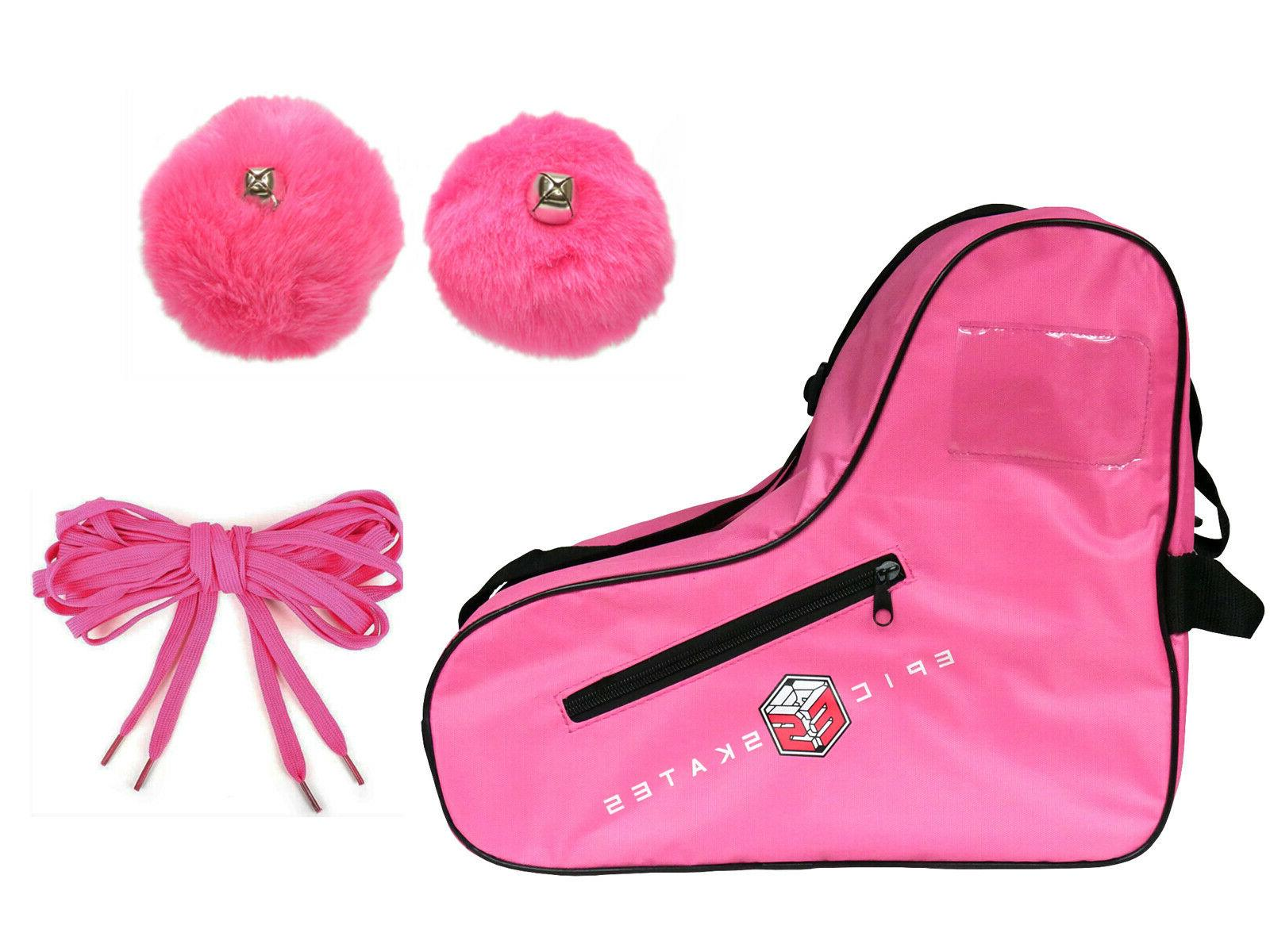 new pink roller skate accessory 3 pc