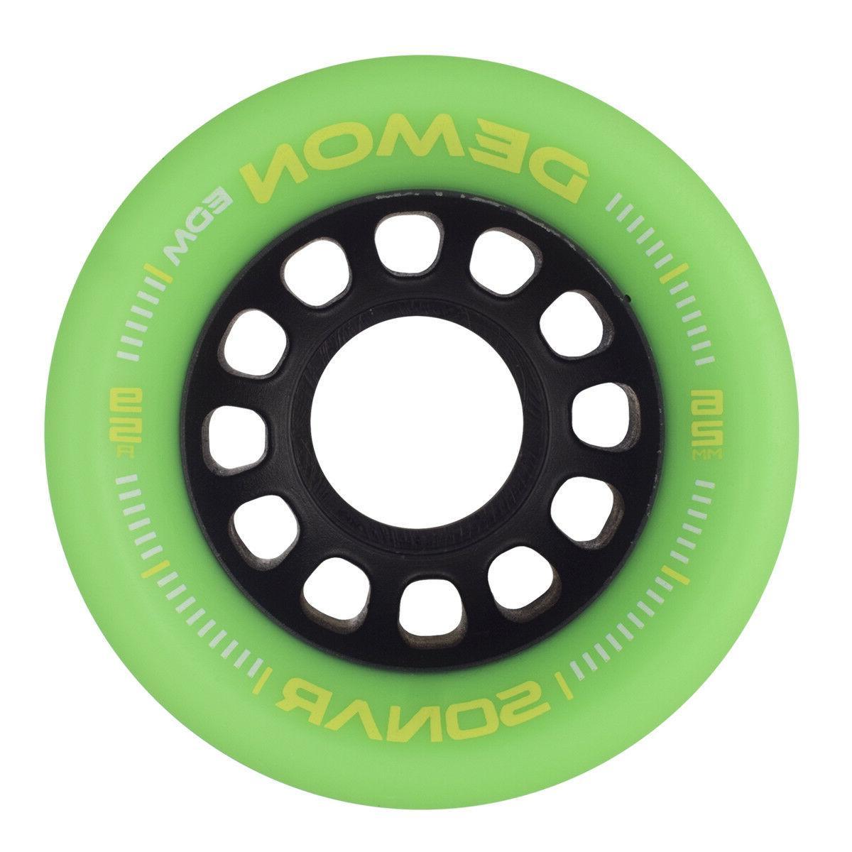 NEW! R3 EDM Roller Speed Skates Green EDM