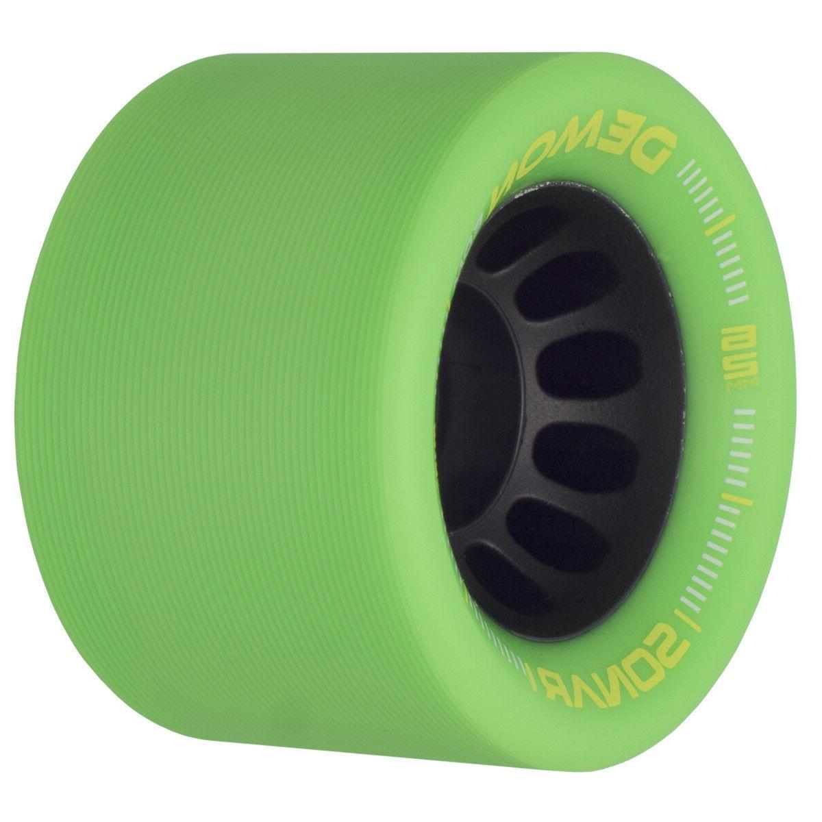 NEW! EDM Quad Roller Speed Skates Black Green EDM