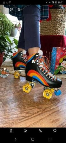 New Moxi Rainbow Rider Roller Skates Asphalt Black Size 5, F