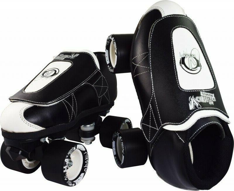 New! VNLA Tuxedo Black & White Quad Roller Jam Skates