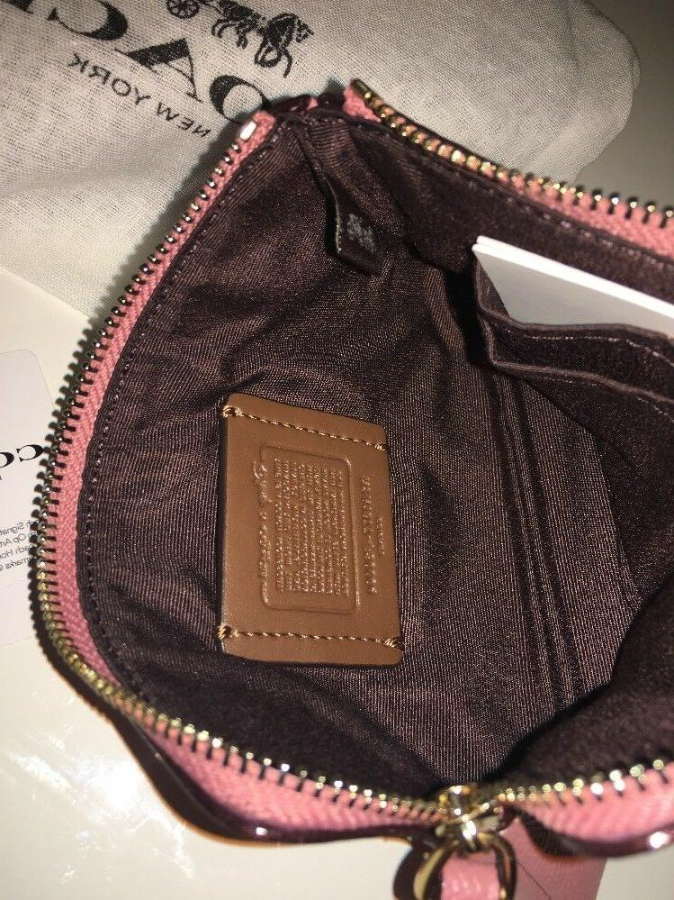 New X Minnie Pink Zip Leather - New With Tag