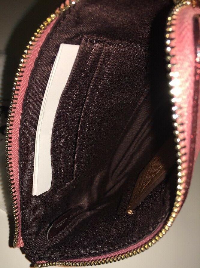 New X DISNEY Minnie Corner Zip Leather - New