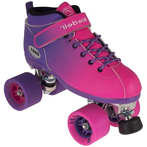Riedell Skates Ombré Roller & Pink Size 6