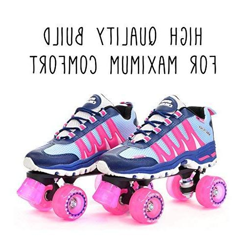Pacer for Girls Boys/Adults Kids Sonic Unisex Rollerskates for Skates Adult or Kid - Indoor/Outdoor
